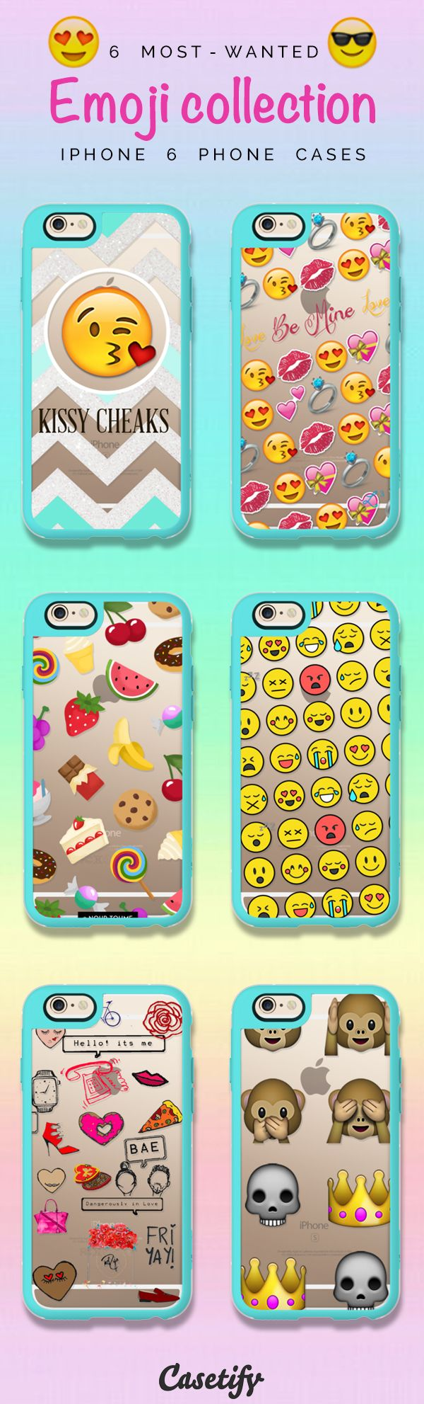 Most favourite Emoji iPhone 6 protective phone case designs | When words fail, emojis speak! Click through to see more iPhone phone case idea >>> www.casetify.com/... | Casetify - http://amzn.to/2h26UWh