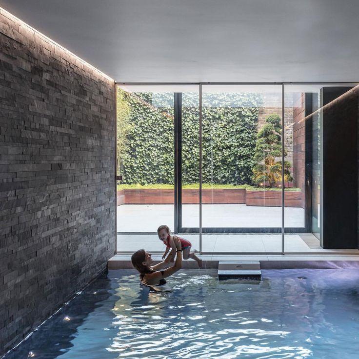 "Dezeen (@dezeen) on Instagram: ""British studio Guarnieri Architects has added a glazed box containing a swimming pool, hot tub and…"""