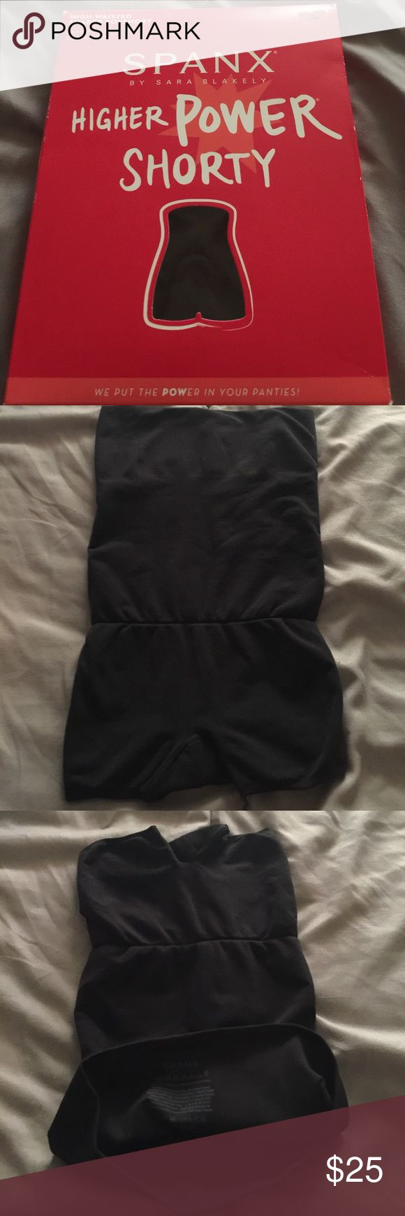 Spanx higher power Shorty High waisted boyshort M Seamless , Ultra soft , light weight , Size medium, weight 130-155 libras , waist 31-33 inches. Hips 38-40.5.Sorry no trades or modeling. Thanks for looking . Have a nice Day. SPANX Intimates & Sleepwear Shapewear