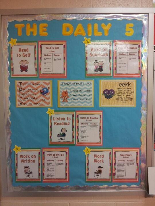 Daily 5 bulletin board 1st grade