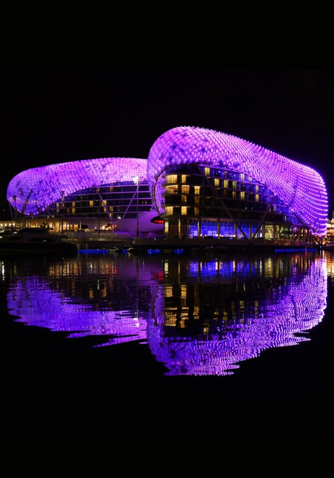 Yas Viceroy's beautiful #reflection on the water in Abu Dhabi