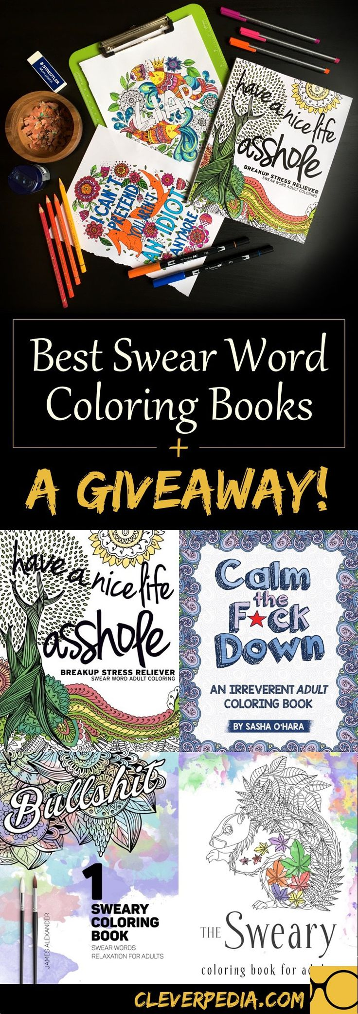 Swear word coloring book volume 1 - Best Swear Word Coloring Books A Giveaway
