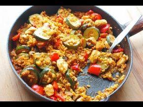Poulet au blé et légumes
