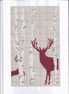 Deer silhouette & trees part 4