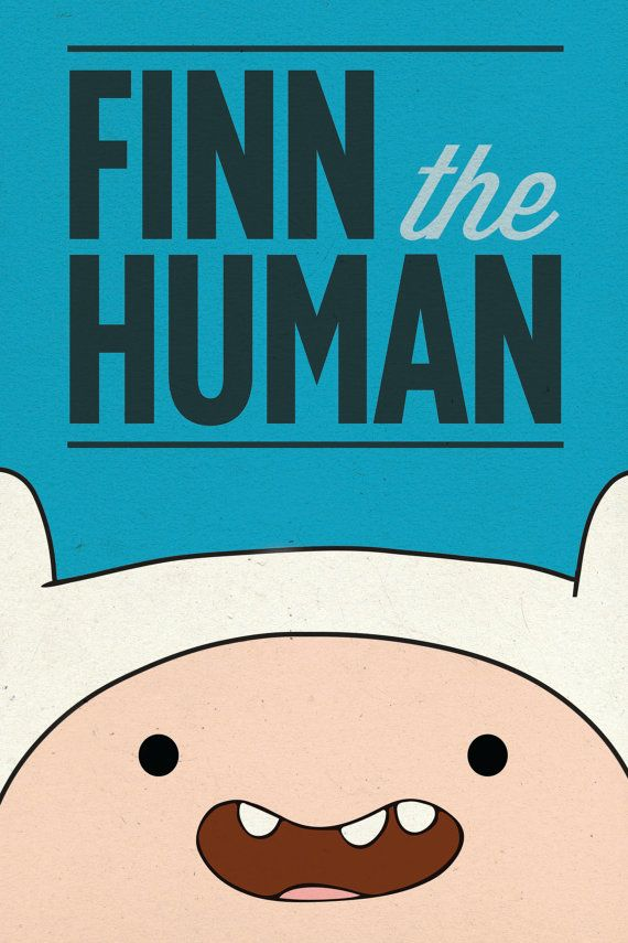 Adventure Time Poster / Finn the Human / 12 x 18 TV by Geekvana