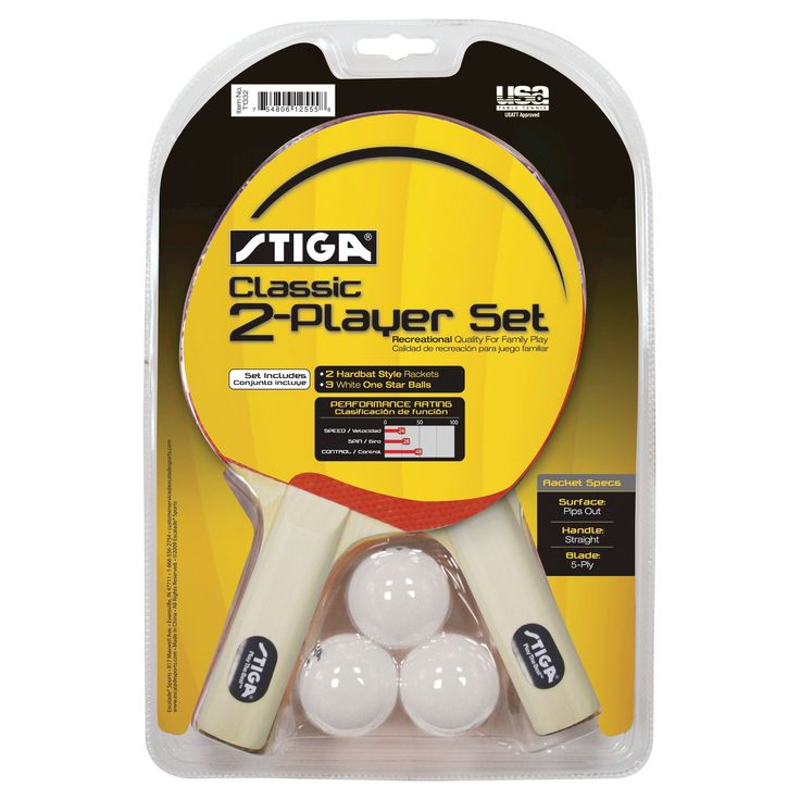 Stiga Classic Player Table Tennis 2 Player Racket Set