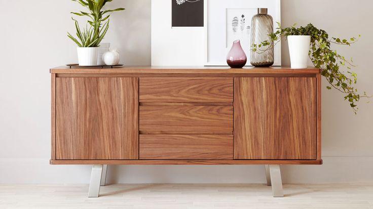 Modern Walnut Sideboard