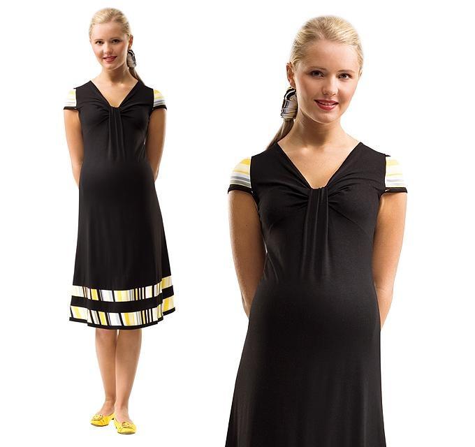 Klasyczny krój i kolor w sam raz na letnie i eleganckie stylizacje - sukienka ciążowa Luba