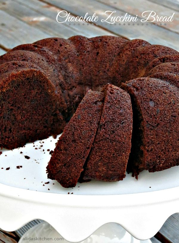 An easy recipe for Chocolate Zucchini Bread. This is so GOOD!