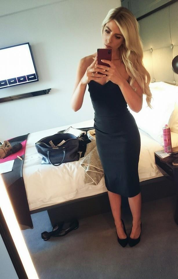 Selfie Blonde Dress Heels Ootd Girl Mondrian Hotel
