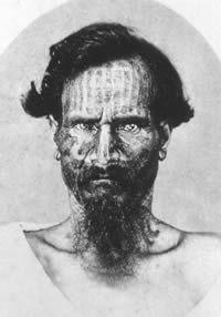 Carte-de-visite of Juan Tepano,   a Rapa Nui nobleman, 1870s.