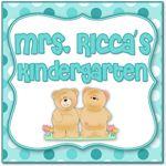 Mrs. Ricca's Kindergarten Common Core Assessment Packet (Freebie)