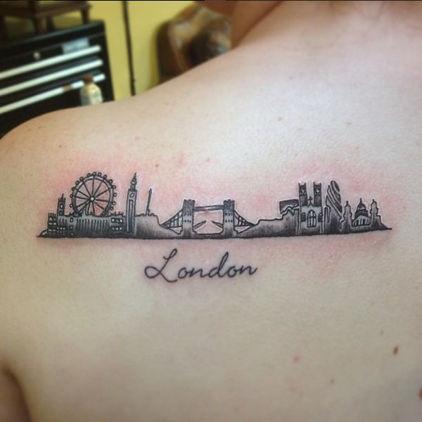"Line Drawing Tattoos London : Über ideen zu ""london skyline tattoo auf pinterest"