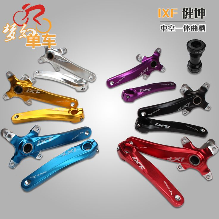 Mountain bike crankset aluminum alloy bicycle crank sprocket mountain bicycle crank crank fluted disc mtb bike parts //Price: $37.95 & FREE Shipping //     #hashtag4