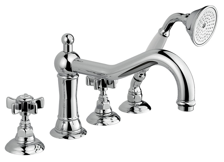 1449 - Bathtub Mixer on edge type with 4 holes www.sinkandtap.com.au
