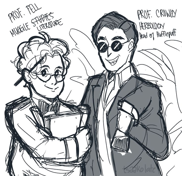 """Hogwarts Professors AU for our husbands who are ineffably our favorites  some headcanons ™ below  ""  [[MORE]]""• angels and demons in this verse have the same rivalry except its the whole gryffindor vs slytherin bs  • the angels are an old pureblood..."