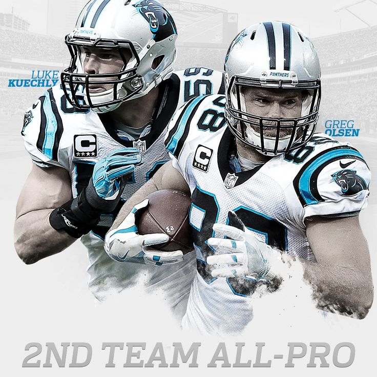 LB Luke Kuechly and TE Greg Olsen voted to 2016 2nd team All-Pro