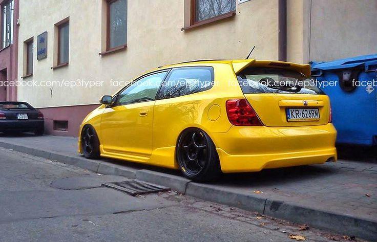 Honda civic type R EP3 Yellow