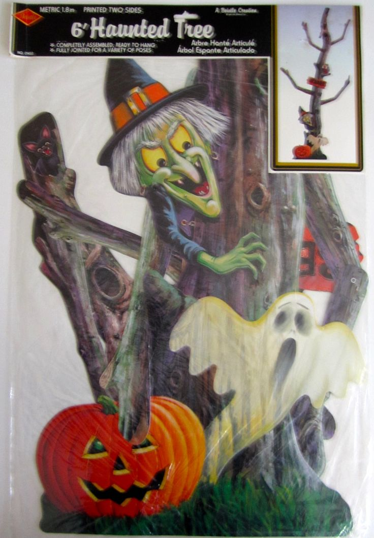 """Vintage Beistle """"6' Haunted Tree"""" Halloween Decoration from the 1990's"""