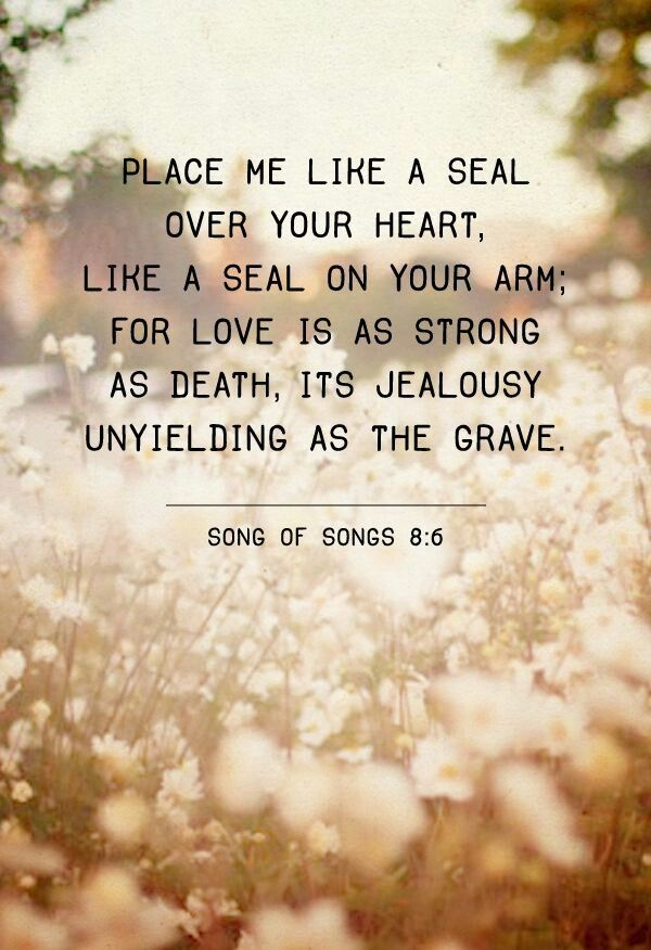 God, you are permanently placed on me like a seal and it'll never be removed. I'm yours, and only yours. Forever!