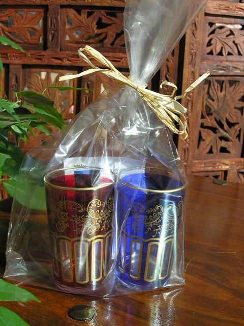 Two Moroccan tea glasses gift set. http://www.maroque.co.uk/showitem.aspx?id=ENT00992&p=00738&n=all
