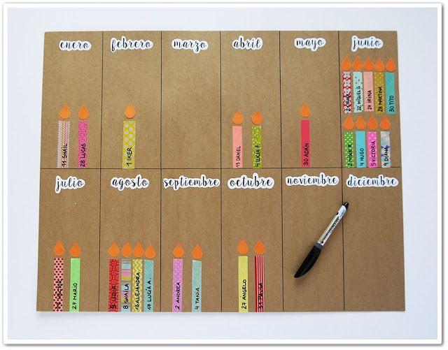 Este año he querido elaborar un calendario con los cumpleaños de los niños de la clase. Cada vela irá en el mes correspondiente y llevará e...