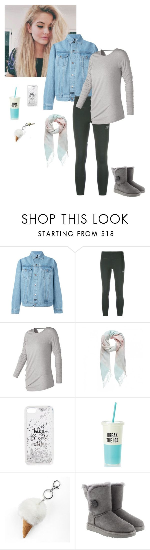"""""""Untitled #992"""" by ninfodora ❤ liked on Polyvore featuring LES (ART)ISTS, New Balance, Forever New, Kate Spade, Mudd, UGG and Kwikset"""