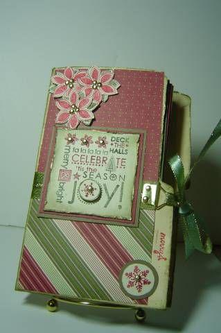 """** Christmas Tag Mini Album  """"Season Of Joy"""" @splitcoaststampers"""