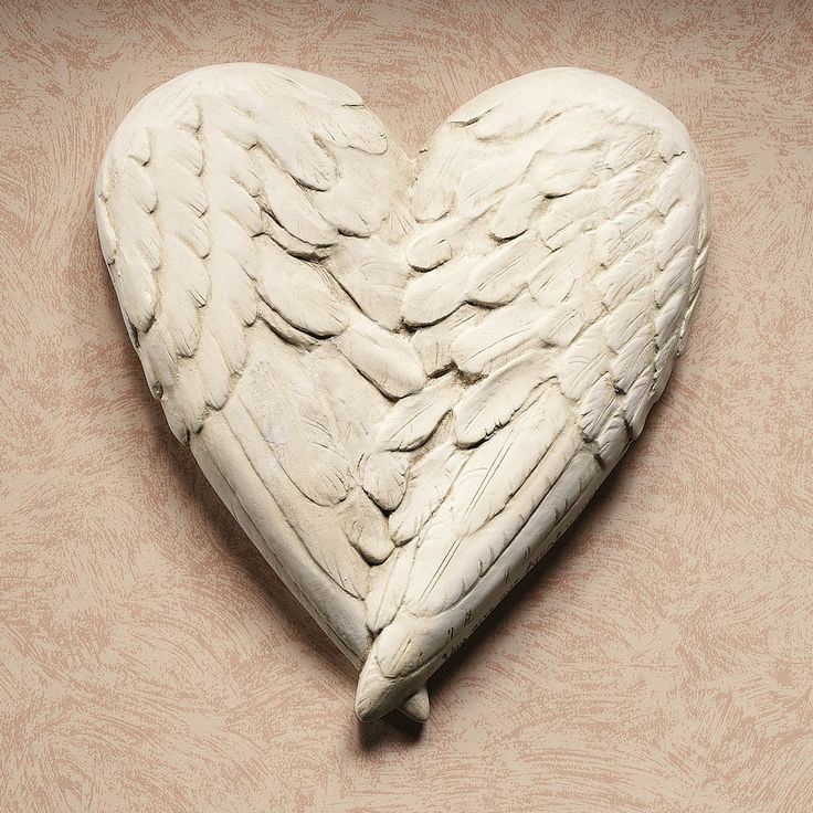 Angel Wings Wall Plaque (inspiration) - love the heart  ********************************************  TouchofClass #angel #wings #heart