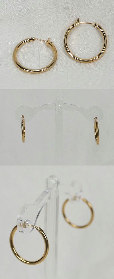 Precious Metal without Stones 164319: 10K Solid Yellow Gold 23Mm Hoop Earrings! Blowout Priced! 3.3 Grams! -> BUY IT NOW ONLY: $69.99 on eBay!