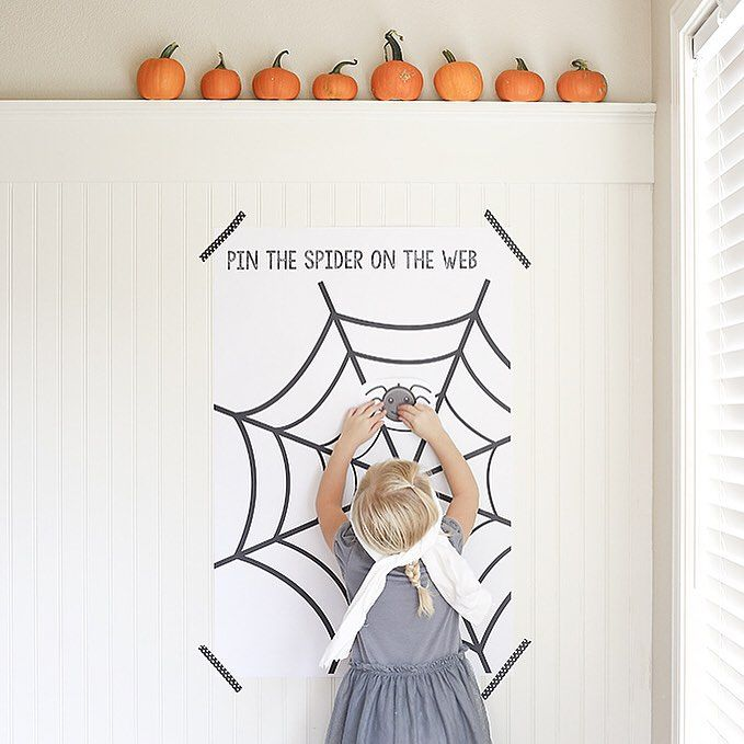 """""""Pin the Spider on the Web"""" game"""