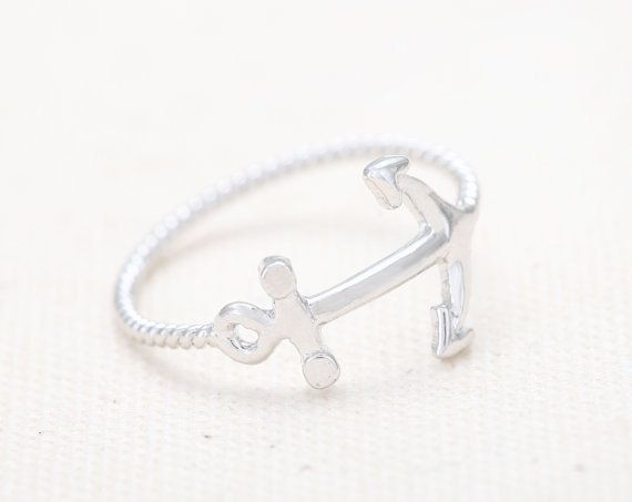 Anchor Ring in Sterling Silver Handmade All by MichPersonalized