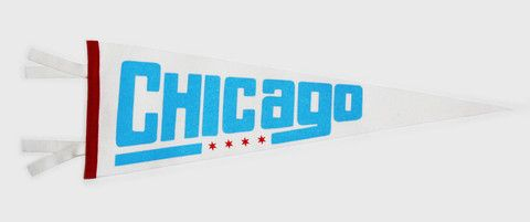 Chicago City Flag Pennant - White and Blue/Red – Oxford Pennant