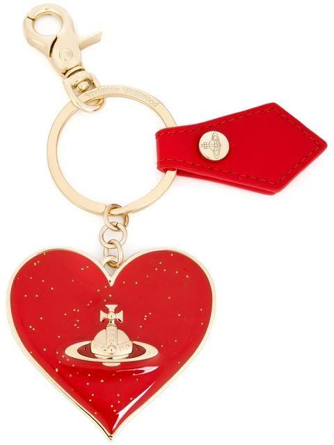 VIVIENNE WESTWOOD logo heart keyring. #viviennewestwood #keyring