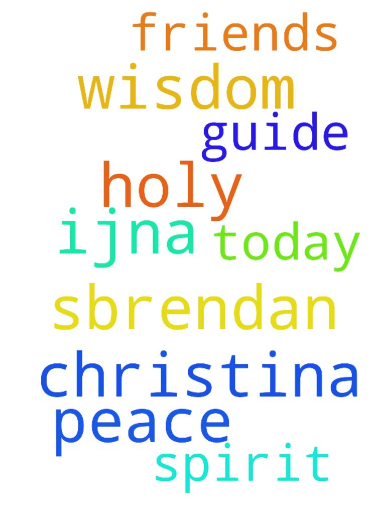 Please pray:) -  I pray wisdom for Christina, S,Brendan amp; friends. Holy Spirit, guide amp; help us today. Thank You amp; for peace, IJNA  Posted at: https://prayerrequest.com/t/EBW #pray #prayer #request #prayerrequest