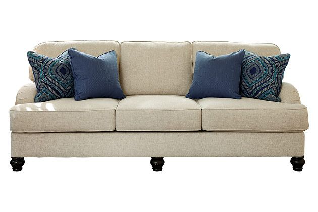 Linen Harahan Queen Sofa sleeper with memory foam - like the sofa but would use different pillows