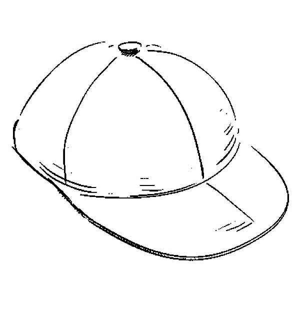 Baseball Hat Baseball Cap Coloring Page Free Clip Art - Baseball ... | 626x600