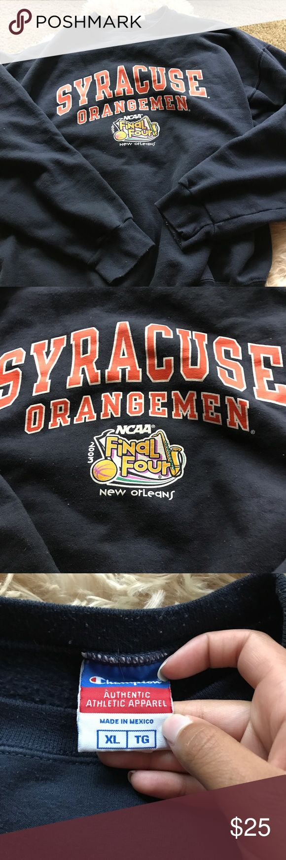 Syracuse basketball crew neck Final Four Basketball crew neck from the 2003 NCAA tournament size woman's XL Champion Tops Sweatshirts & Hoodies