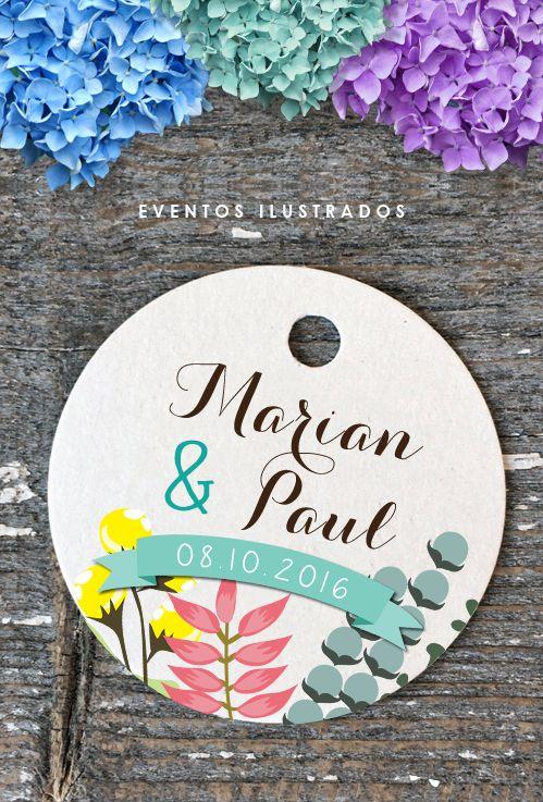 Etiquetas redondas con agujero,ideales para dar a tus obsequios un acabado perfecto!