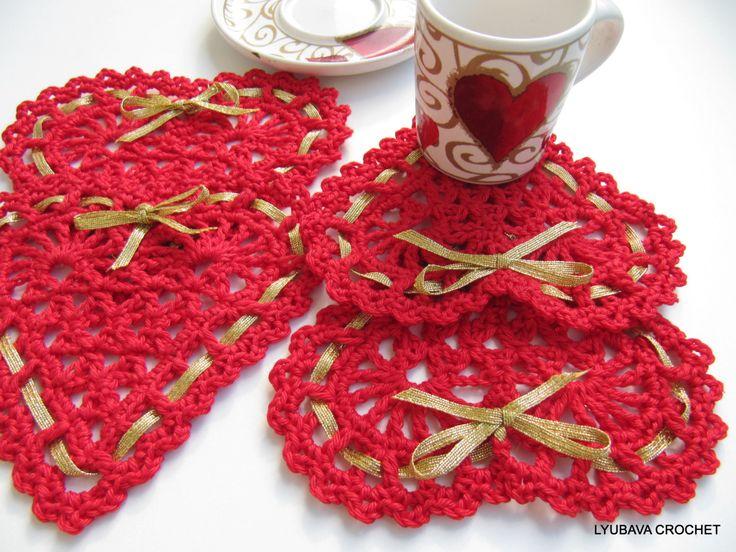 PDF Crochet Heart, Easy Tutorial Crochet Heart Pattern, Red Heart Valentine Day Gift, Lyubava Crochet Pattern number 39, via Etsy.
