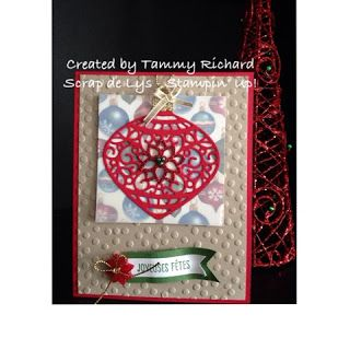 Scrap de Lys: Delicate Ornament Christmas card. Stampin' Up! Holiday 2015