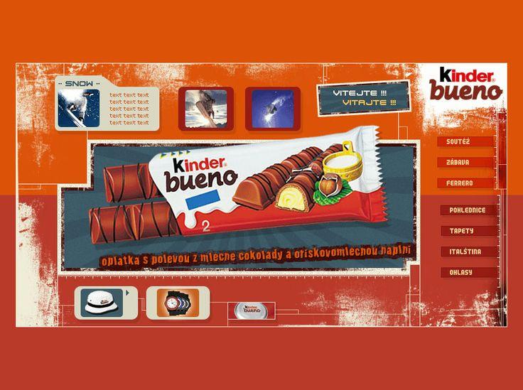 Kinder Bueno website in 2002