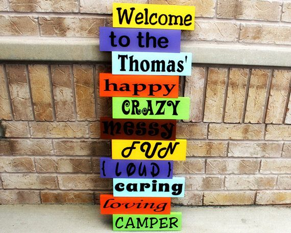 Personalized Welcome Porch Sign  Welcome To Our by TimelessNotion