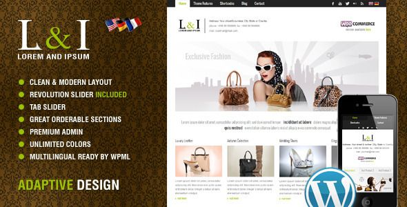 Lorem & Ipsum: Universal Corporate Wordpress Theme  #themeforest