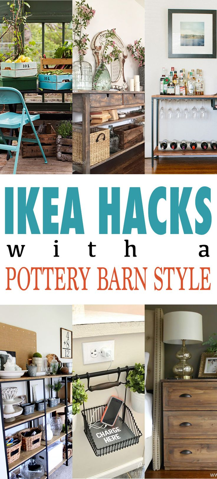 IKEA Hacks that have Pottery Barn Style but not the price tag!  Enjoy!
