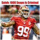 Another reason why you can pretty much know the #49ers defense will be an impenetrable fortress is that a lot of us thought the rookie Defo Buckner was pretty good especially for a rookie last season. We had no idea… We've actually seen nothing yet regarding Deforest Buckner.  Although it was unfortunate that Jim O'Neil had such poor judgement DBuck has played enough football in one season to erase the effects of anything resembling a rookie season for DBuck's 2nd year. With that many snaps…