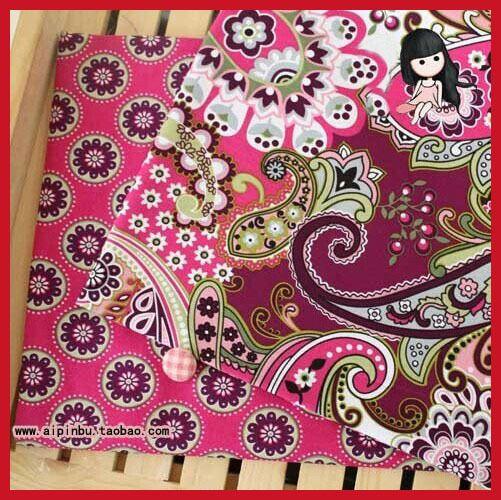 НОВЫЙ 2piece150x50cm Марочные Красные Серии Печать хлопок поплина ткань жира квартале расслоение одежда постельные принадлежности швейные лоскутное Тильда