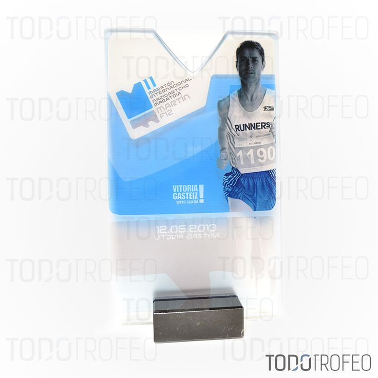 TROFEO MARATÓN MARTIN FIZ 2013, VITORIA.   Diseñamos los trofeos para su evento deportivo. Pide su presupuesto a través de: todotrofeo@todotrofeo.com    MARTIN FIZ MARATHON 2013 TROPHY, VITORIA.  We design your sport event trophies. Request your budget in: todotrofeo@todotrofeo.com