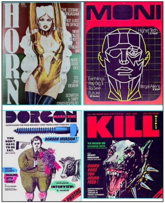 Magazines From Blade Runner In fact, they were displayed in the background of the newsstand scene, which you must go back and watch now.: Futuristic Magazines, Magazines Design, Backgrounds, Newsstand Scene, Movie, Blade Runners, Fiction Magazines, Magazines Covers, Magazines Display