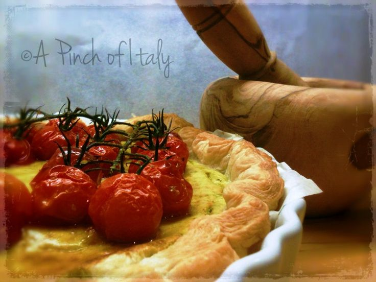 Ricotta and Pesto Tart, with Roasted Cherry Tomatoes